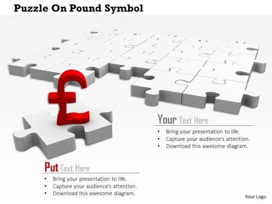 Stock Photo Pound Symbol On Missing Puzzle Piece PowerPoint Slide