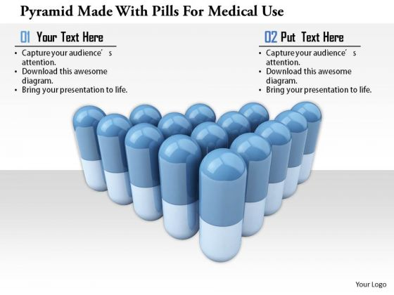 Stock Photo Pyramid Made With Pills For Medical Use PowerPoint Slide
