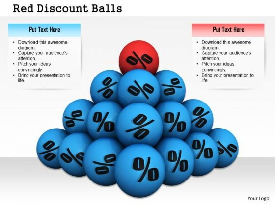 Stock Photo Pyramid Of Balls With Percent Symbols Pwerpoint Slide