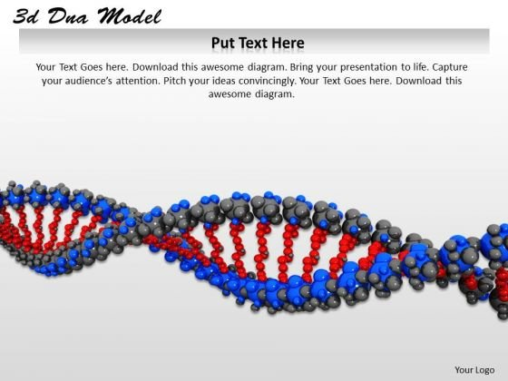 Stock Photo Red And Blue Dna Symbol PowerPoint Slide