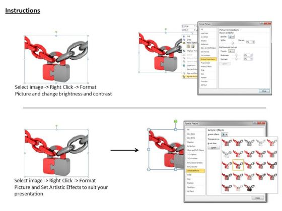 stock_photo_red_and_grey_chains_with_puzzle_lock_powerpoint_slide_3