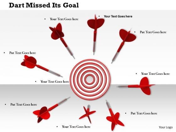 Stock Photo Red Arrows Around Target Board PowerPoint Slide