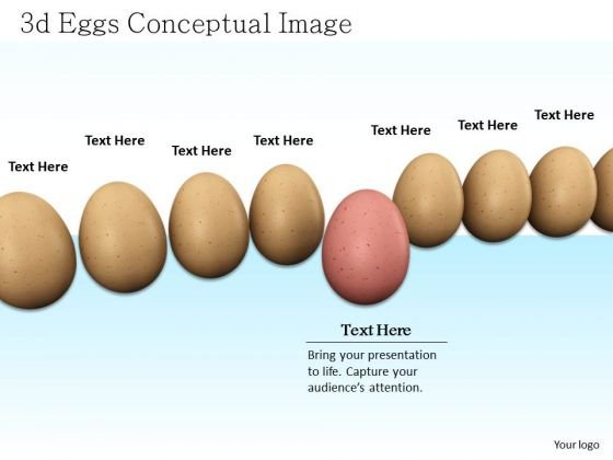 Stock Photo Red Egg Coming Out From Egg Queue Shows Team And Leadership PowerPoint Slide