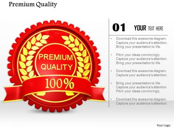 Stock Photo Red Logo Design Of Premium Quality PowerPoint Slide