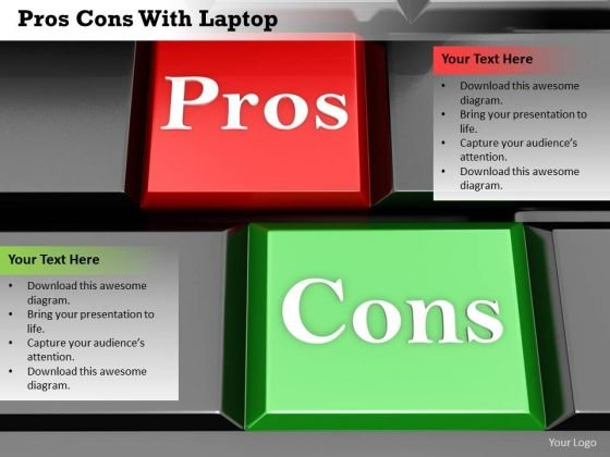 Stock Photo Red Pros And Green Cons Keys PowerPoint Slide