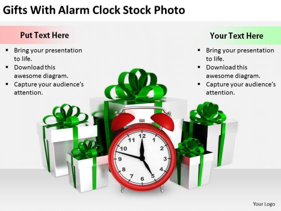 Stock Photo Sales Concepts Gifts With Alarm Clock Stock Photo Business Images