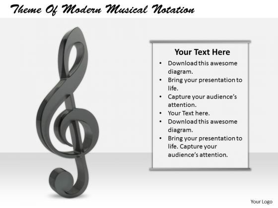 Stock Photo Sales Concepts Theme Of Modern Musical Notation Business Photos