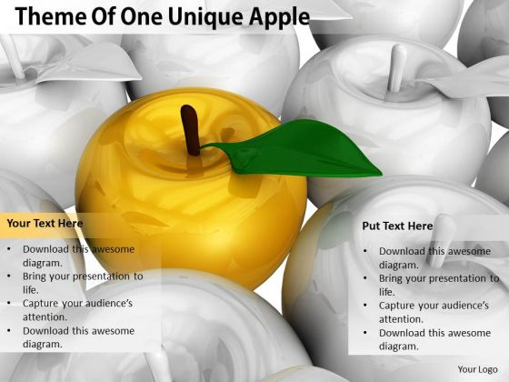 Stock Photo Sales Concepts Theme Of One Unique Apple Business Photos
