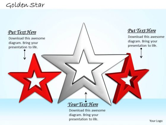 Stock Photo Silver Star In Center Of Red Stars PowerPoint Slide
