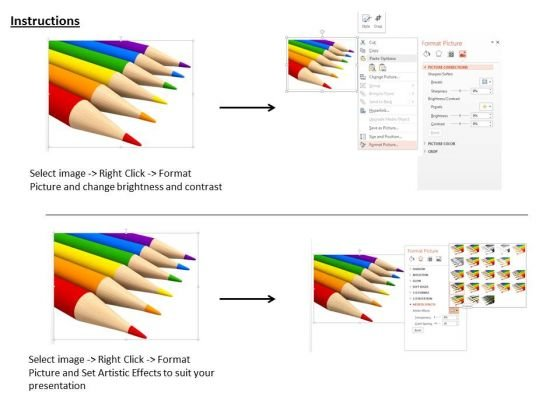 stock_photo_six_colorful_pencils_on_white_background_powerpoint_slide_3