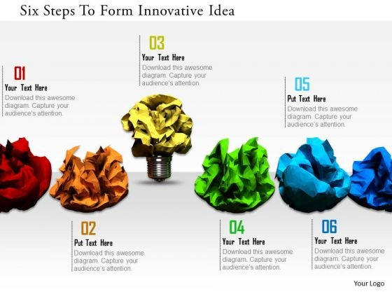 Stock Photo Six Steps To Form Innovative Idea PowerPoint Slide