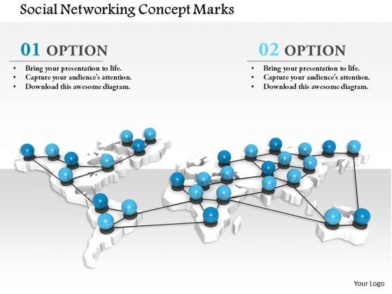 Stock Photo Social Networking Concept Marks PowerPoint Slide