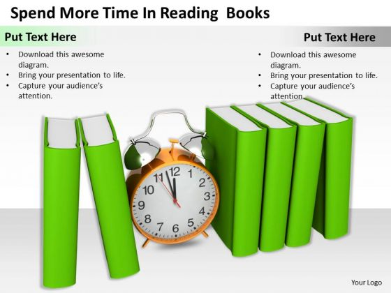 Stock Photo Spend More Time In Reading Books Ppt Template
