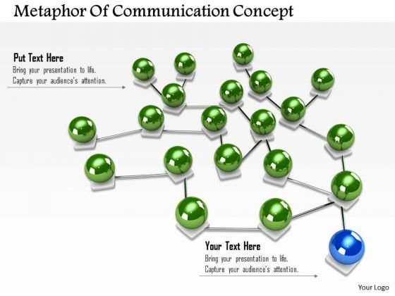 Stock Photo Spheres Connected With One Different Sphere Concept Network PowerPoint Slide