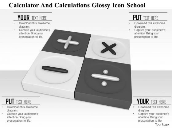 Stock Photo Square With Calculation Maths Symbols PowerPoint Slide