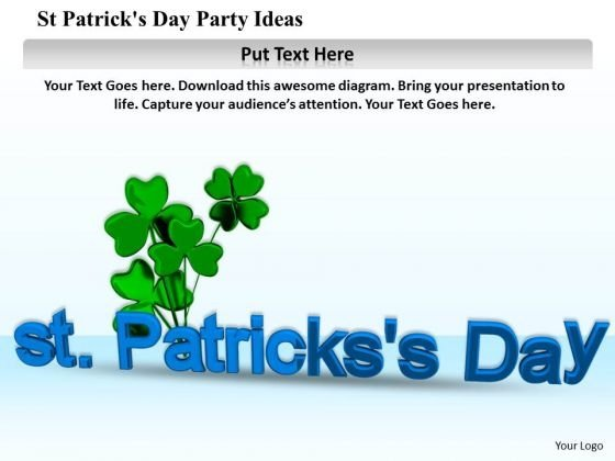 Stock Photo St Patricks Day Party Ideas PowerPoint Template