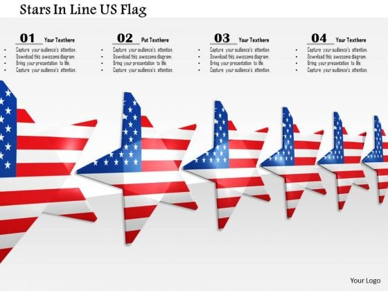 Stock Photo Stars In Line Us Flag PowerPoint Slide