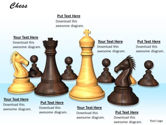 Stock Photo Strategy Concept With Chess Theme PowerPoint Slide