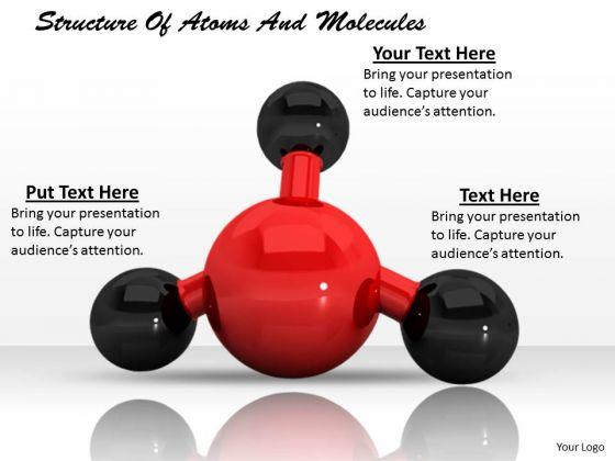 Stock Photo Structure Of Atoms And Molecules PowerPoint Template