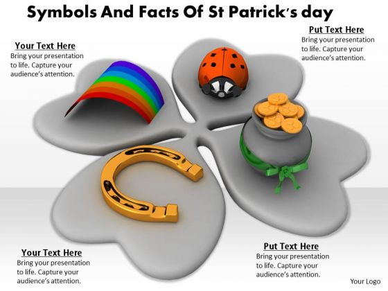 Stock Photo Symbols And Facts Of St Patricks Day PowerPoint Template