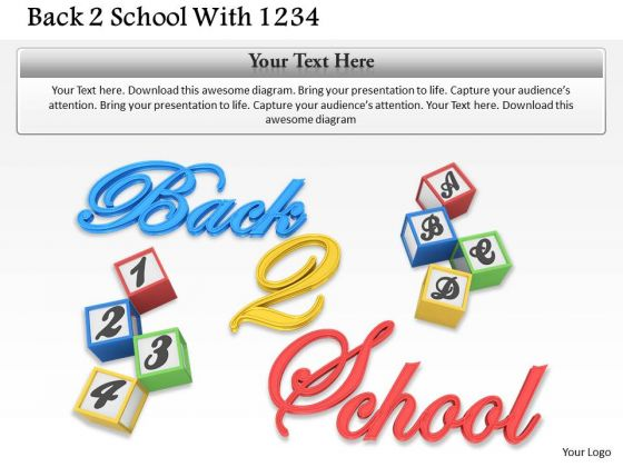 Stock Photo Text For Back To School PowerPoint Slide