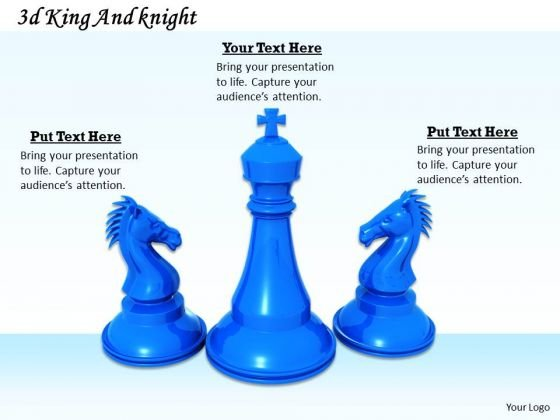 Stock Photo Three Blue Colored Chess Pawns PowerPoint Slide