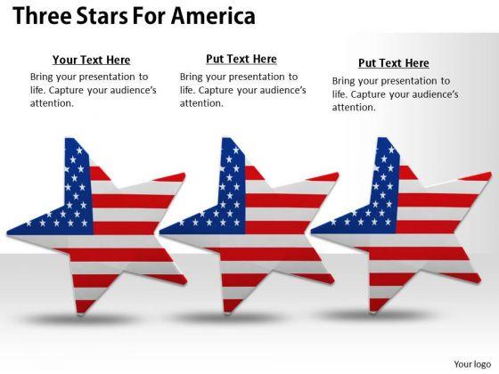 Stock Photo Three Dancing Stars Of America Pwerpoint Slide