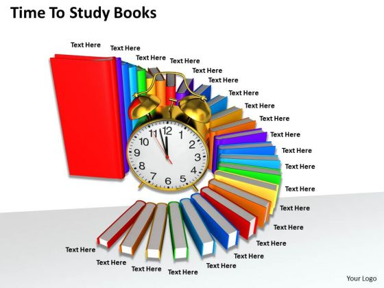 Stock Photo Time To Study Books Ppt Template