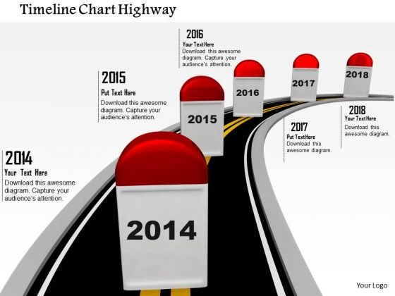 Stock Photo Timeline Chart Highway PowerPoint Slide