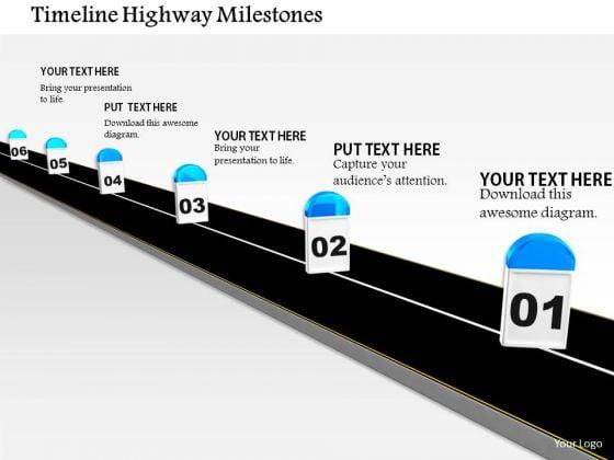 Stock Photo Timeline Highway Milestones PowerPoint Slide