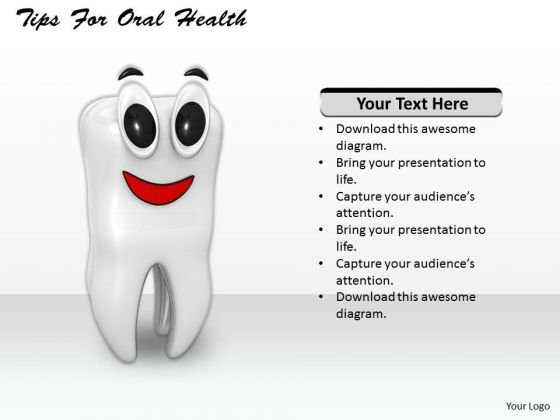 Stock Photo Tips For Oral Health PowerPoint Template