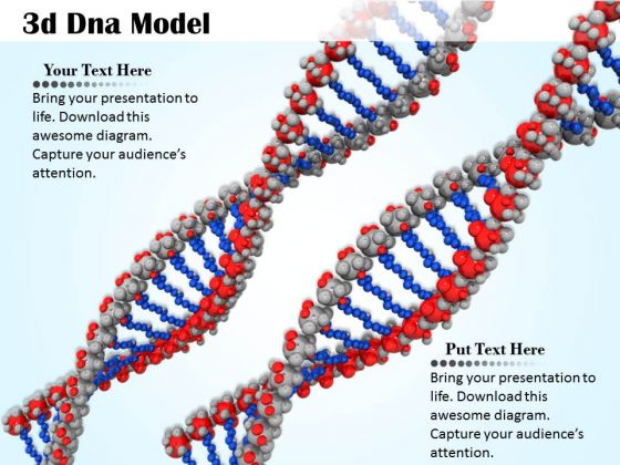 Stock photo two 3d dna design for medical powerpoint slide stock photo two 3d dna design for medical powerpoint slide powerpoint templates ccuart Image collections
