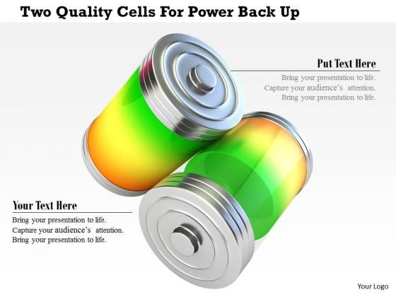 Stock Photo Two Quality Cells For Power Back Up PowerPoint Slide