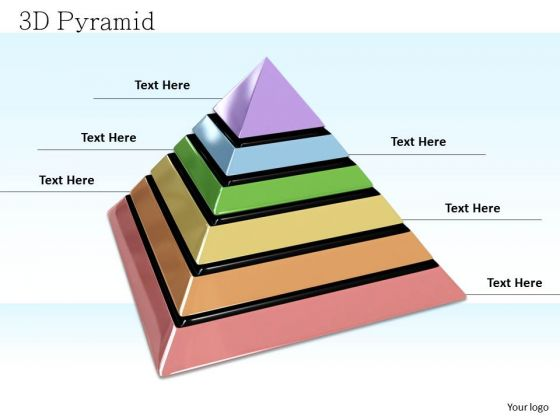 Stock Photo Unique Colored Pyramid For Growth PowerPoint Slide