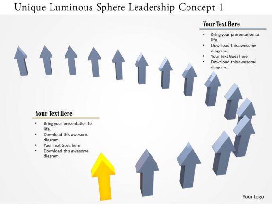 Stock Photo Unique Luminous Sphere Leadership Concept 1 PowerPoint Slide