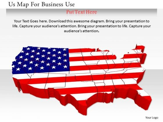 Stock Photo Us Map For Business Use PowerPoint Slide - PowerPoint ...