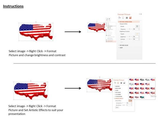 Stock Photo Us Map For Business Use PowerPoint Slide PowerPoint - Powerpoint slide with us map