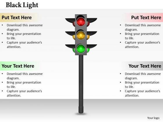 Stock Photo Watch Traffic Signals PowerPoint Slide