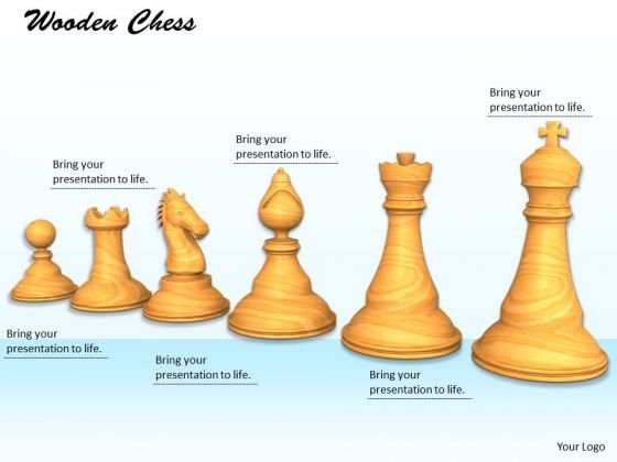 Stock Photo White Pieces Of Chess Game PowerPoint Slide