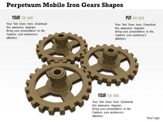 Stock Photo Working Gears PowerPoint Slide