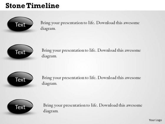 Stone Timeline PowerPoint Presentation Template