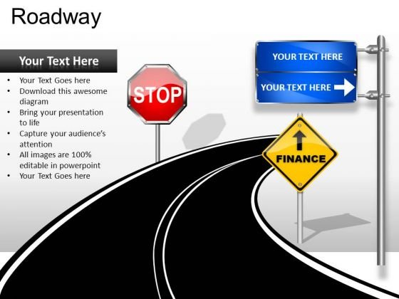 Stop Sign Ahead Business PowerPoint Slides And Ppt Diagram Templates