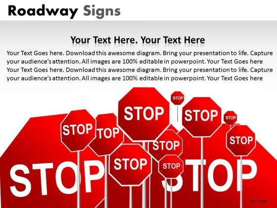 Stop Signs PowerPoint Slides And Stop Road Signs Ppt Templates
