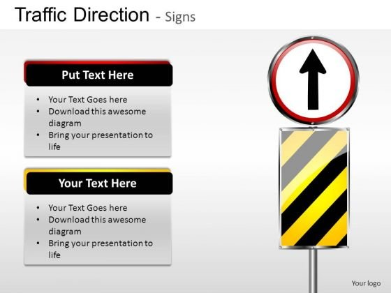 Straight Signpost Traffic Direction PowerPoint Slides And Ppt Diagram Templates
