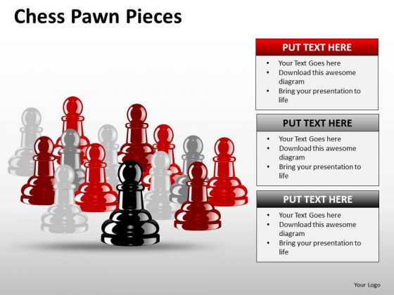 Strategic Chess Pawn Pieces PowerPoint Slides And Ppt Diagram Templates
