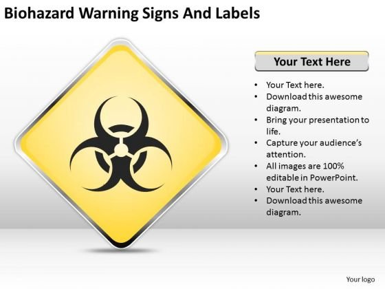 Strategy PowerPoint Template Biohazard Warning Signs And Labels Ppt Slides