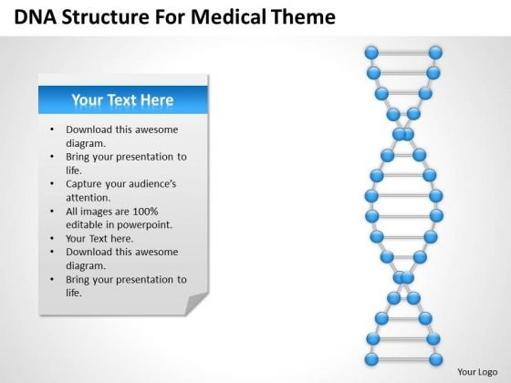 Strategy PowerPoint Template Dna Structre For Medical Theme Ppt Slides
