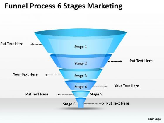 Strategy PowerPoint Template Funnel Process 6 Stages Marketing Ppt Slides