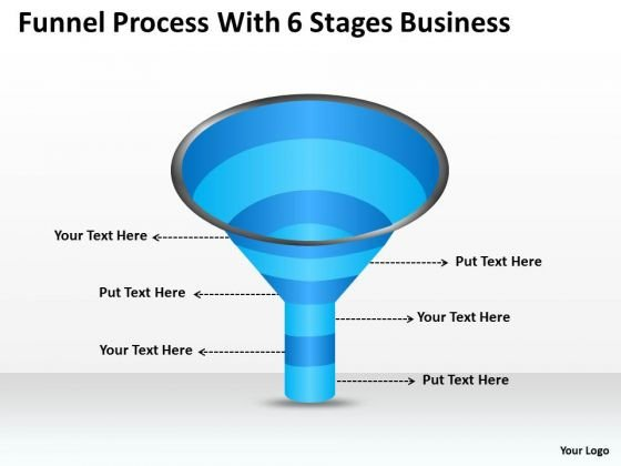 Strategy PowerPoint Template Funnel Process With 6 Stages Business Ppt Slides