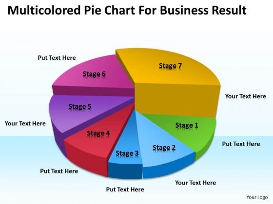 Strategy PowerPoint Template Multicolored Pie Chart For Business Result Ppt Templates
